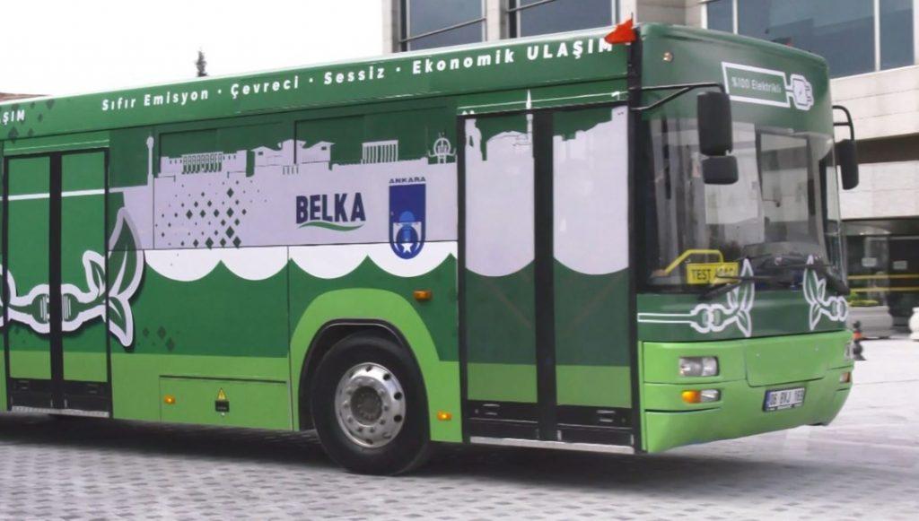 Ankara'da dizelden dönüştürülen elektrikli otobüs tanıtıldı