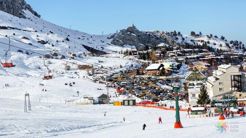 Saklikent kayak merkezi Antalya gezilecek yerler