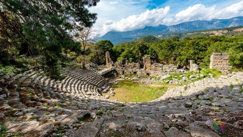 Antalya gezilecek yerler Phaselis Antik Kenti